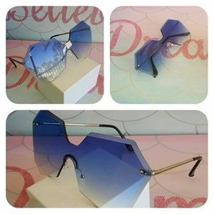 Accessories - New trendy 2019  Hexagon woman Sunglasses  100% UV